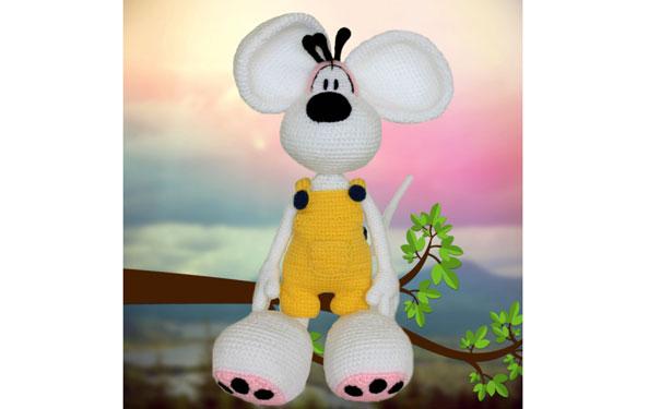 Вязаная крючком мышка (Diddl raton grande