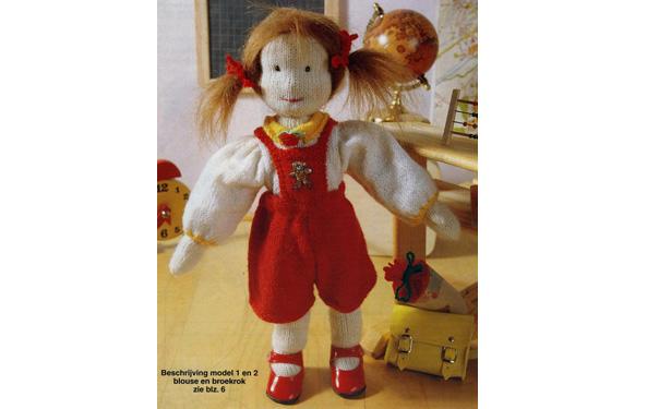 Вязаная кукла Лиза. Первоклассница