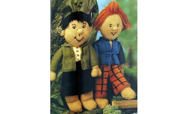Вязаные куклы Макс и Мориц