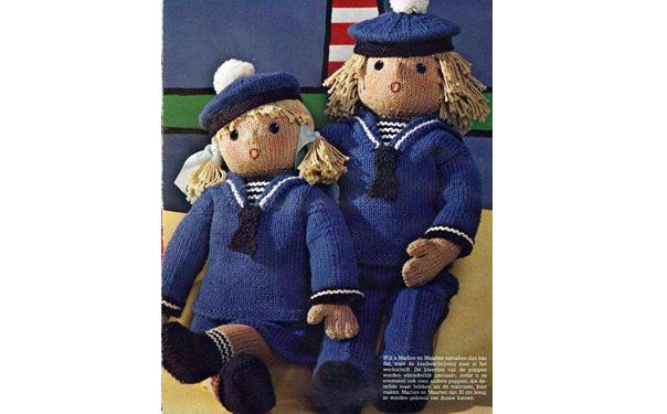 "Вязаные куклы ""Маленькие моряки"""