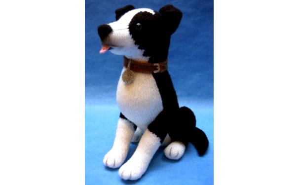 Вязаная собака Border Collie