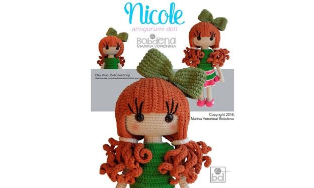 Вязаная крючком кукла Николь. Описание