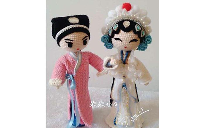 Вязаные куклы в национальных костюмах. Схема