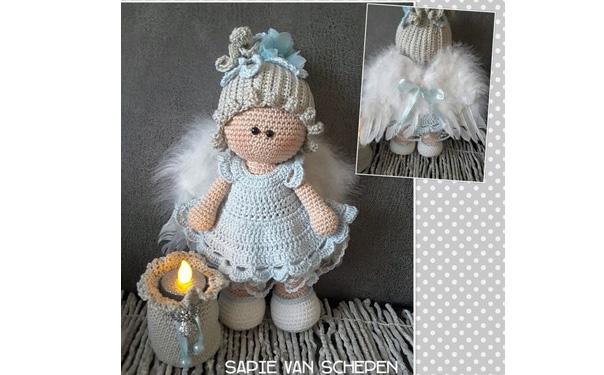 Вязаная кукла в костюме ангела. Схема