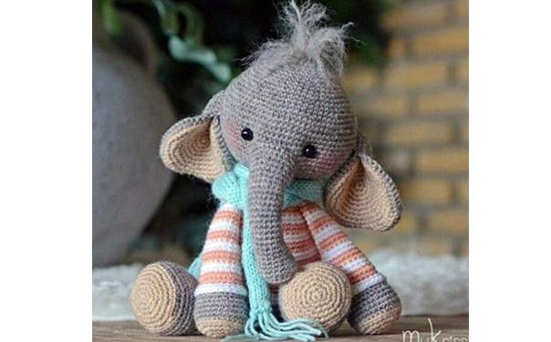 Вязаный слон Нина. Схема