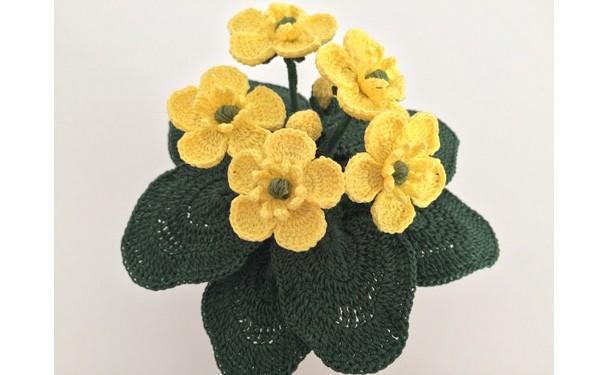Вязаный цветок лютики. Схема