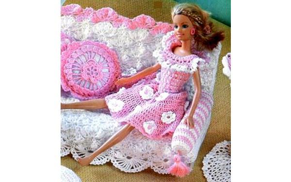 Розовое платье для Барби. Схема