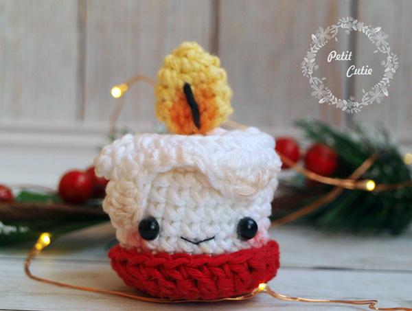 Рождественская свечка от Petit Cutie