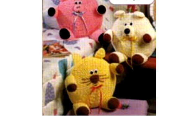 Вязаные подушки-игрушки. Схемы