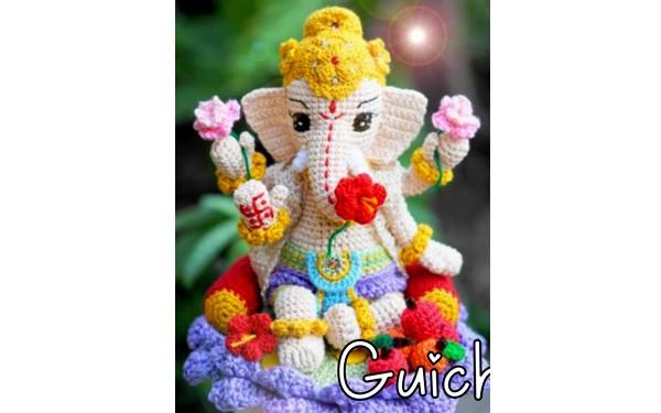 Вязаный индийский слон. Схема