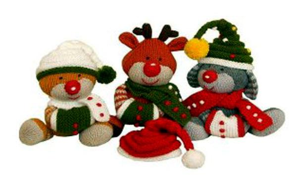 Вязаные игрушки Красноносые приятели