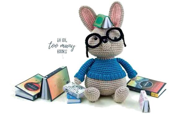 Вязаный кролик Норман
