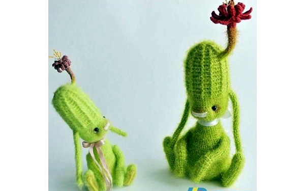 Вязаный заяц-кактус. Схема