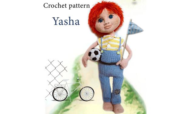 Вязаная кукла-мальчик Яша (BoyYasha) . Схема