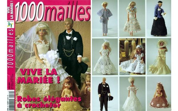 Вязаные платья для Барби. Схемы