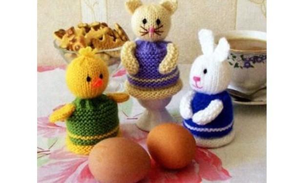 Вязаные  грелки для яиц. Схема