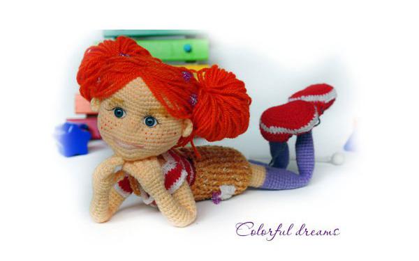 Вязаная куколка Тоня. Схема