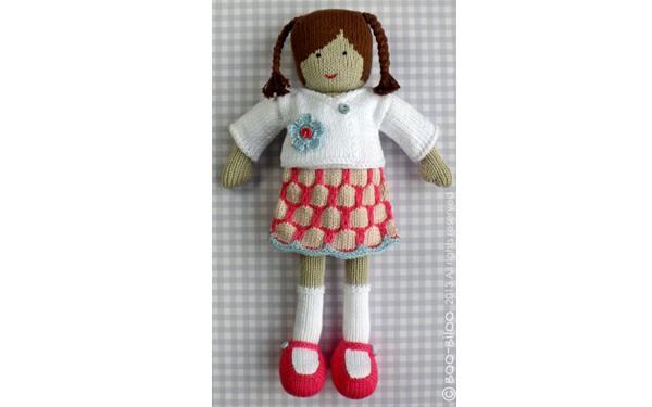 Вязаная спицам кукла Лейла. Описание