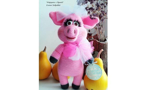 Вязаная  свинка Фрося. Схема