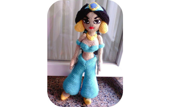 "Вязаная крючком кукла ""Принцесса Жасмин"". Схема"