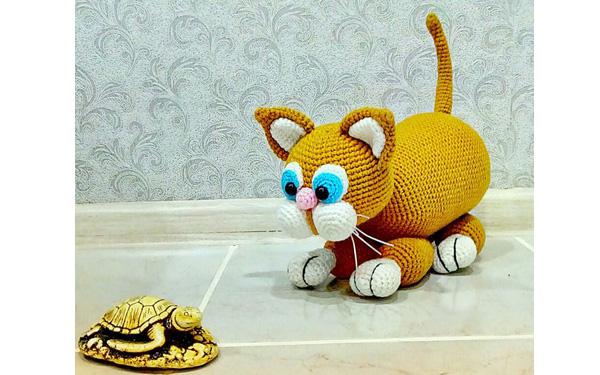 Вязаный крючком кот Рыжик. Схема