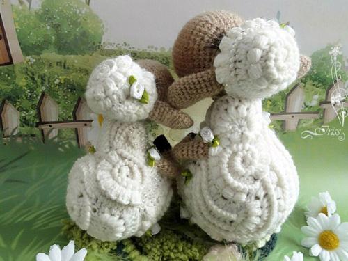 Вязаная Гламурная овечка