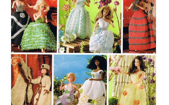 Креативная коллекция вязаной одежды для Барби