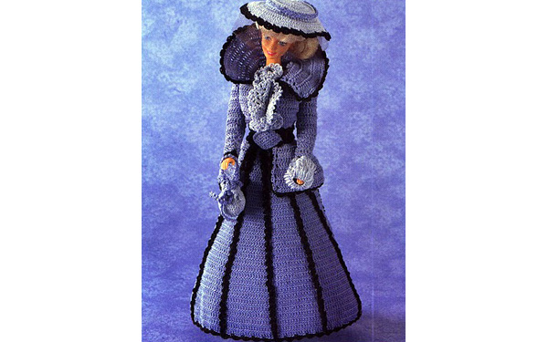 Платье для Барби. Marquesita de Azul
