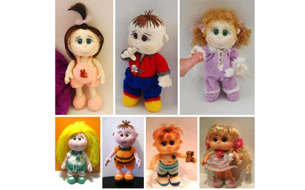 Вязаные крючком куколки-малышки. Схема