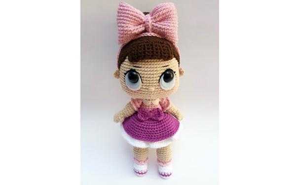 Вязаная кукла Лол-сюрприз. Схема