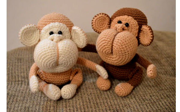 Вязаные крючком обезьянки. Схема