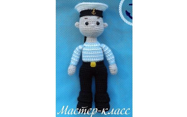 Вязаная кукла Моряк. Схема