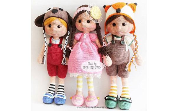 Вязаная кукла Оливия. Схема