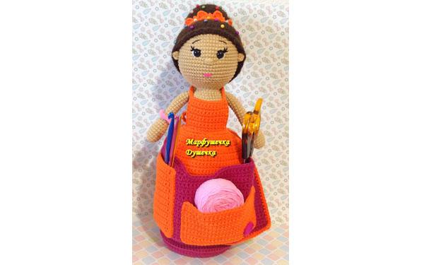 Вязаная кукла-игольница. Схема
