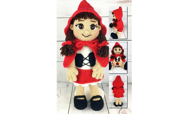 Вязаная кукла Красная шапочка. Схема