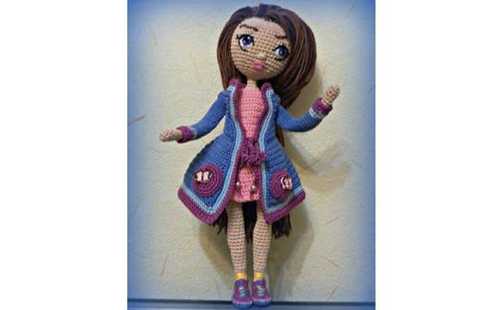 Вязаная кукла Югетт. Схема