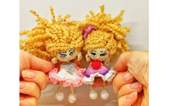 Вязаная кукла с сердечком-валентинка. Схема