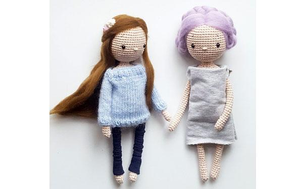Вязаная  кукла Lea. Схема