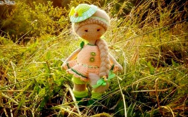 Вязаная кукла Летняя. Схема