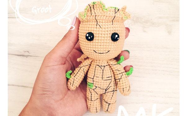 Вязаная кукла Малыш Грут. Схема