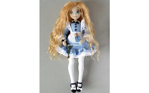 Вязаная кукла Алиса. Схема