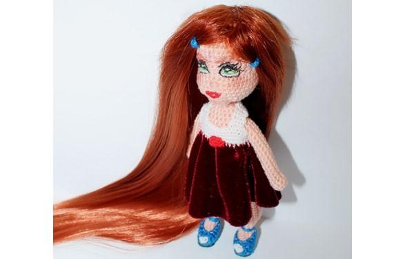 Вязаная каркасная кукла Варенька. Схема