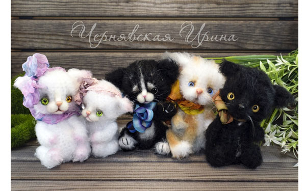 Вязаные Милые котята. Схема