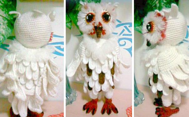 Вязаная Снежная сова. Схема