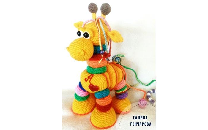 Вязаный жираф для малышей. Схема