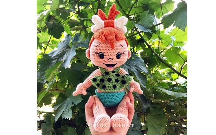 Вязаная кукла Пещерный человечек . Схема