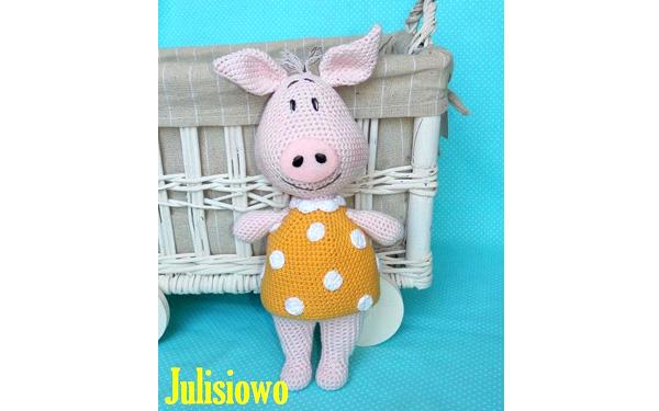 Маленькая свинка в желтом платье. Схема