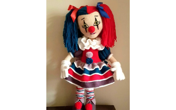 Вязаная кукла Клара клоунесса. Схема