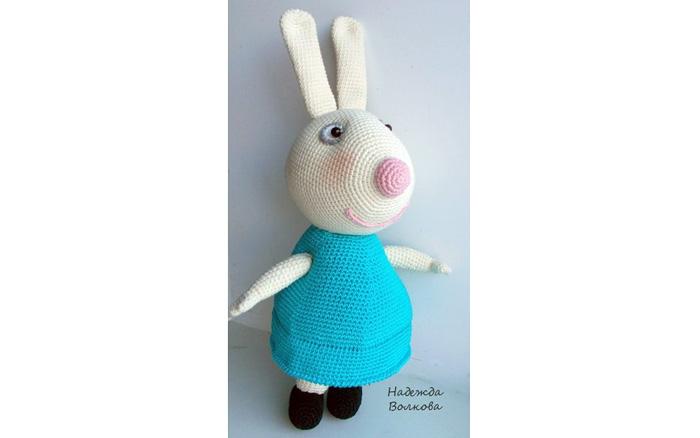 Вязаный кролик Ребекка. Схема