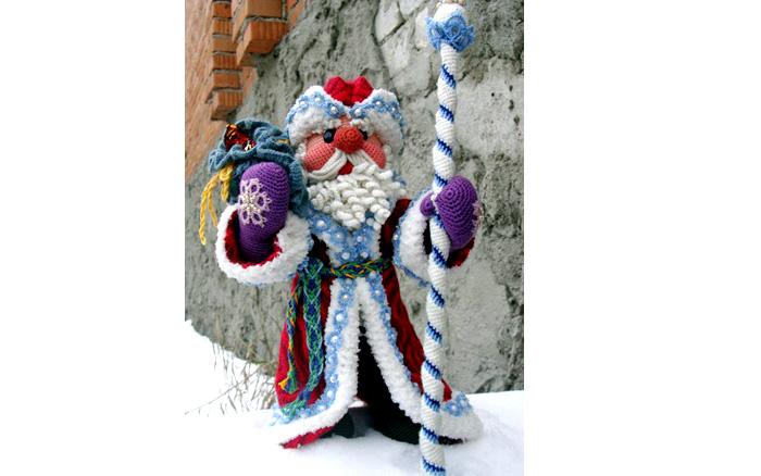 Вязаный настоящий Дед Мороз. Схема